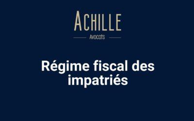 Régime fiscal impatriés